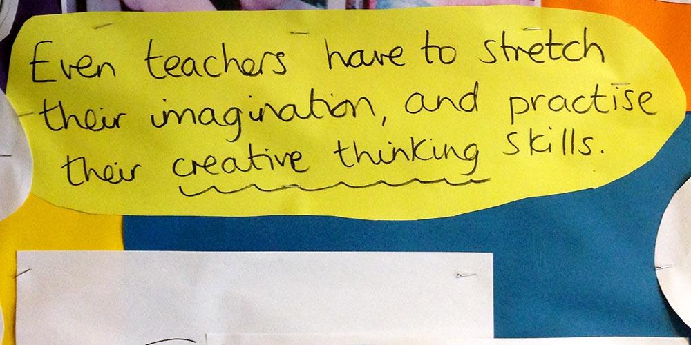 Zelfs docenten gebruiken hun verbeelding